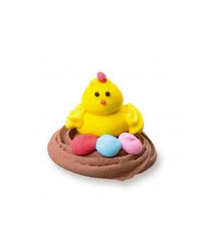 Сахарная фигурка Гнездо с цыпленком, 1 шт
