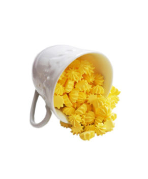 Сахарная фигурка Мини-безе жёлтые, 50гр