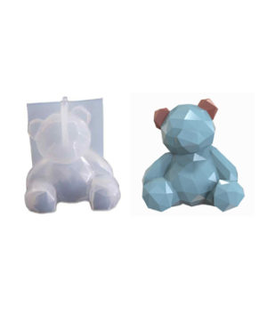 Молд силиконовый 3D  Геометрический мишка