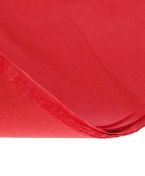 Бумага упаковочная Тишью, Красная 10 листов
