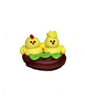 Сахарная фигурка Цыплята в гнезде,1 шт