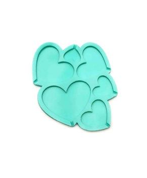 Молд силиконовый Сердечки разные-Топпер