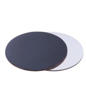 Подложка круглая 28см, чёрная/белая, 2,5мм