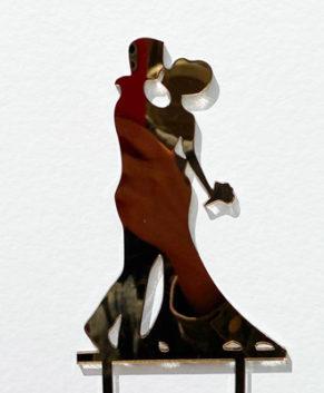 Топпер Свадебная пара, зеркало золото