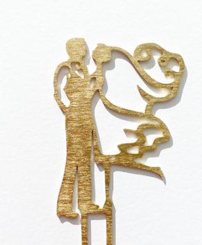 Топпер Свадебная пара, золото