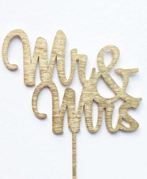 Топпер Надпись Ms Mrs, золото