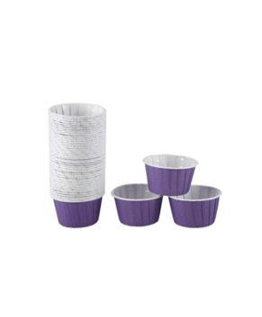 Капсулы бумажные усиленные фиолетовые 50х40мм, 20шт