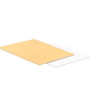 Подложка прямоугольная 30х22см, золото/белая, 3,2мм