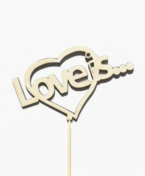 Топпер Love is...