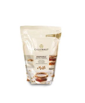 Шоколадные хрустящие шарики Crispearls Солёная карамель Callebaut, 70гр