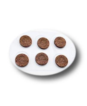 Пластиковая форма для шоколада, Фишки-деньги