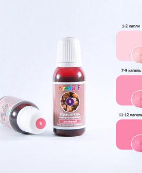 Гелевый жирорастворимый краситель Розовый