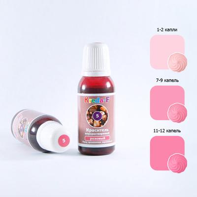 Краситель гелевый жирорастворимый Kreda розовый 20мл