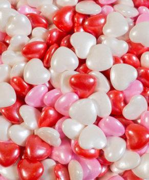 Посыпка кондитерская Сердечки 3D ( красные, розовые, белые), 40гр