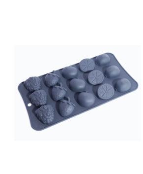 Силиконовая форма для конфет Мармеладные ягоды, 15 ячеек