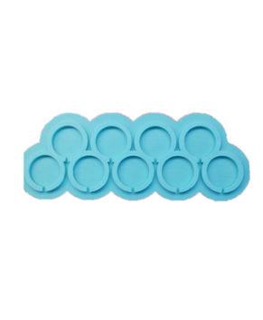 Молд силиконовый Круги-Топпер 4 см, 10ячеек