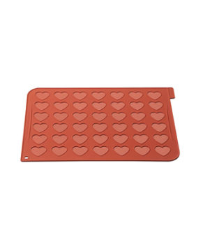 Силиконовый коврик для макарон Сердечки Silikomart  40×30 см
