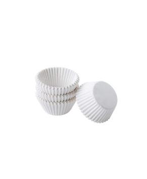Капсулы бумажные для конфет белые 30х18мм, 40шт