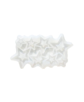 Молд силиконовый Звезды сквозные, 8 ячеек
