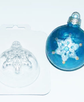 Пластиковая форма для шоколада Шар со снежинкой
