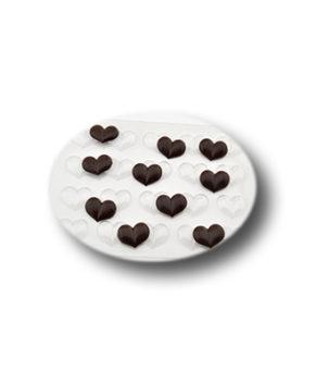 Пластиковая форма для шоколада Шоко-гео-сердечки