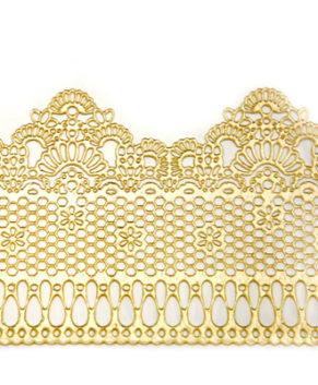Кружево кондитерское сахарное, Золотое 36×9см