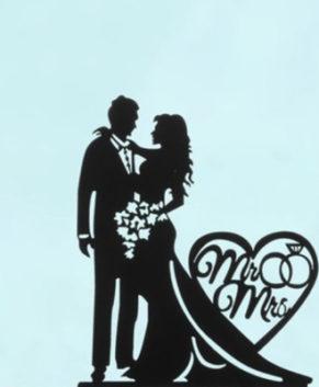 Топпер Свадебная пара, чёрный