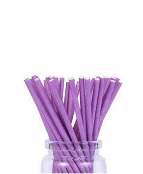 Палочки для леденцов и кейкпопсов Фиолетовые 10см, 25шт