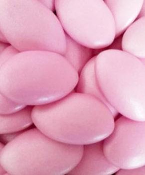 Драже сахарное с шоколадной начинкой, розовое 50гр