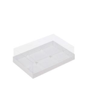 Коробка под муссовые пирожные с пластиковой крышкой 26х17х6 см, 6 ячеек