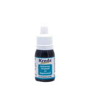 Краситель гелевый пищевой Бирюзовый 10гр, KREDA