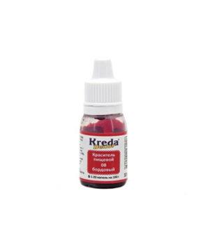 Краситель гелевый пищевой Бордовый 10мл, KREDA