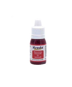 Краситель гелевый пищевой Красный 10гр, KREDA