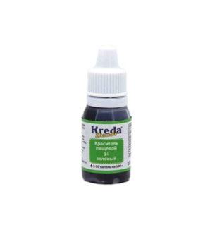 Краситель гелевый пищевой Зелёный 10гр, KREDA