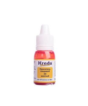 Краситель гелевый пищевой Жёлтый 10гр, KREDA