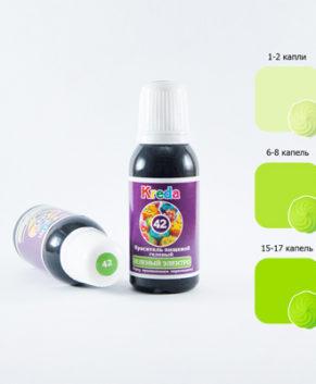 Краситель гелевый пищевой Зелёный Электро 25гр, KREDA