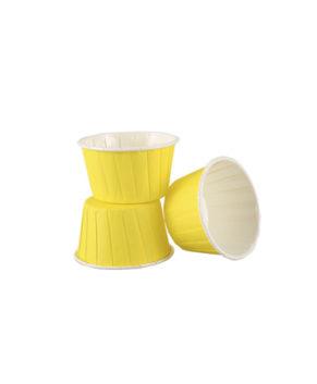 Капсулы бумажные усиленные с ламиницией желтые 50х40мм, 20шт
