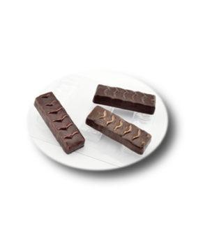 Пластиковая форма для шоколада Батончик Классический 3 ячейки