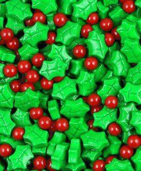 Посыпка кондитерская Листики и ягодки 3D, 40гр