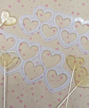 Молд силиконовый Сердечки без дна-Топпер 5,5см, 7ячеек