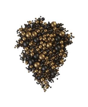 Драже рисовые в глазури Микс Бронза/Чёрный уголь №214, 100гр