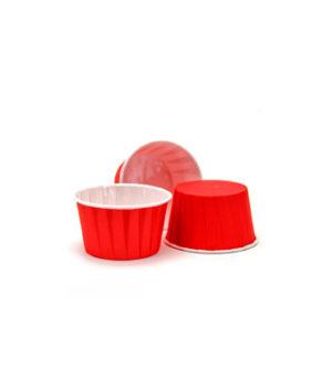Капсулы бумажные усиленные с ламиницией красные 50х40мм, 20шт