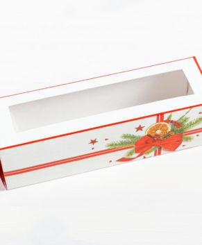 Коробка для макарун 18х5,5х5,5см Подарок