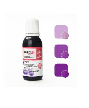 Краситель гелевый пищевой Фиолетовый Электро №27 25гр, KREDA S-gel