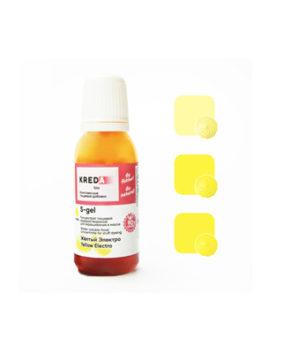Краситель гелевый пищевой Жёлтый Электро №02 20мл, KREDA S-gel
