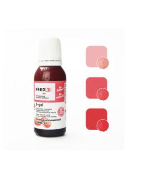 Краситель гелевый пищевой Красный насыщенный №12 25мл, KREDA S-gel