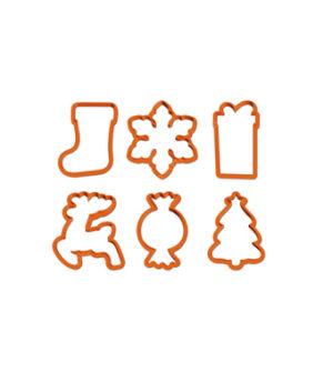 Вырубка Новогодние формы в наборе 6шт