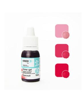 Краситель гелевый пищевой Красный 10мл, KREDA Prime-gel