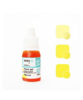 Краситель гелевый пищевой Жёлтый 10мл, KREDA Prime-gel