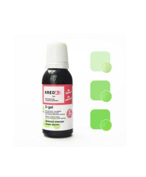 Краситель гелевый пищевой Зелёный Электро №42 25мл, KREDA S-gel